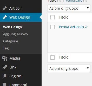 Creare tassonomie personalizzate per WordPress