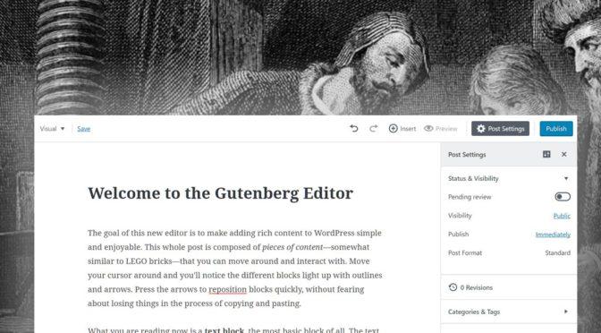 Gutenberg. Il punto sul nuovo editor WordPress